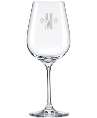 Tuscany Federal Monogram 4-Pc. Pinot Grigio Wine Glass Set