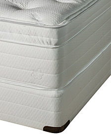 Nature's Spa by Paramount Jazmine Latex 17'' Ultra Plush Euro Pillow Top Mattress Set- Queen Split