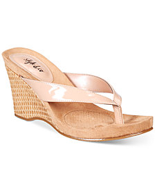 Style & Co Chicklet Wedge Thong Sandals, Created for Macy's