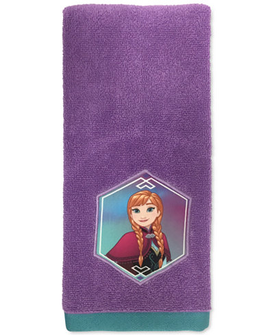 Jay franco frozen anna snowflake hand towel bathroom - Anna s linens bathroom accessories ...