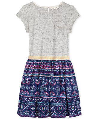 Jessica Simpson Geo Print Dress Big Girls 7 16 Shirts