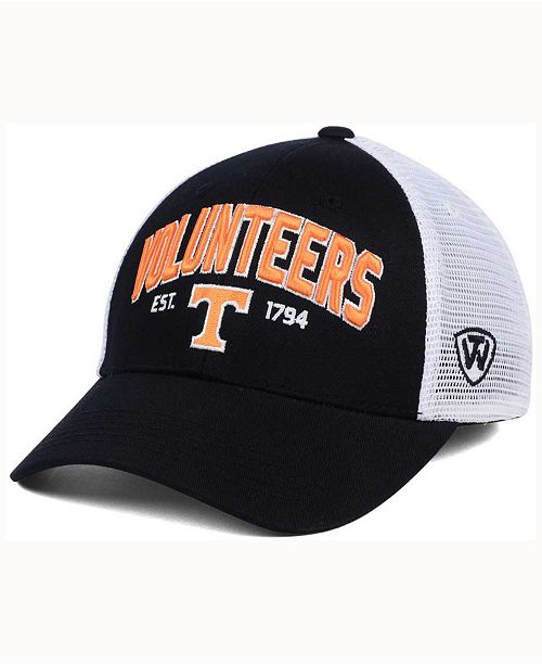 premium selection 373ee 905fc ... Top of the World Tennessee Volunteers Black Mesh Teamwork Snapback Cap  ...
