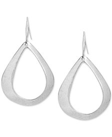 Robert Lee Morris Soho Silver-Tone Teardrop-Shaped Drop Hoop Earrings