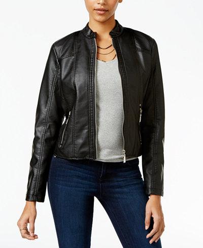 Jou jou faux leather jacket