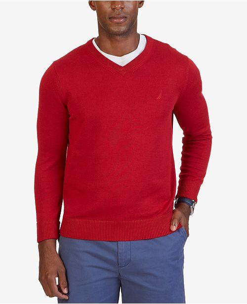 1eb4d69024f6 Nautica Men's Big & Tall V-Neck Sweater & Reviews - Sweaters - Men ...