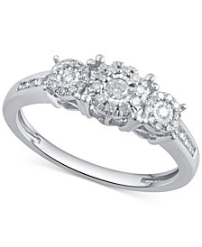 Diamond Engagement Ring (1/3 ct. t.w.) in 14k Gold, Rose Gold or White Gold