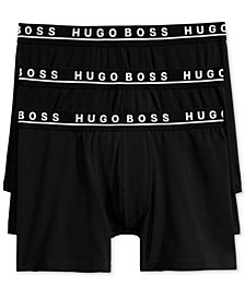 BOSS Men's 3 Pack Cotton Stretch Boxer Briefs