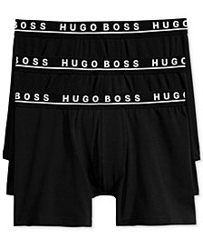 BOSS Men's 3 Pack Cotton Stretch Boxer Briefs