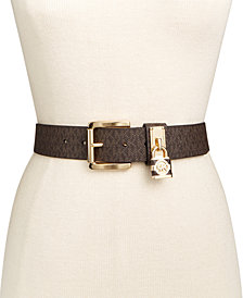MICHAEL Michael Kors Classic Roller Signature with Hamilton Lock Belt