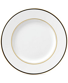 kate spade new york Library Lane Black Collection Dinner Plate