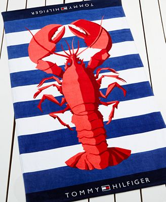 Tommy Hilfiger Lobster Cabana Beach Towel