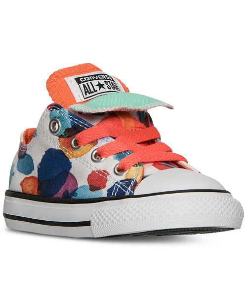 820e18f7d327 ... Converse Toddler Girls  Chuck Taylor All Star Double Tongue Casual  Sneakers from Finish Line ...