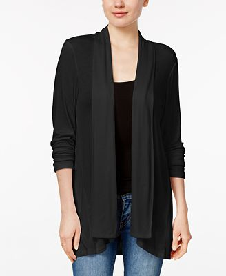 Style & Co Draped High-Low Cardigan, Created for Macy's - Sweaters ...
