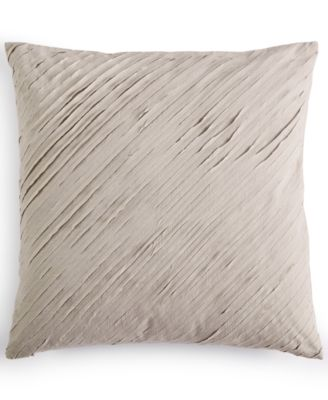 "Cut Lines Stone 18"" Square Decorative Pillow"