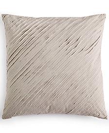 "Calvin Klein Cut Lines Stone 18"" Square Decorative Pillow"