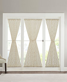Madison Park Irina Embroidered Diamond Sheer Door Panels
