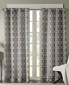 Madison Park Zafar Texture Fret-Print Window Panels - Easy Care Linen Look!
