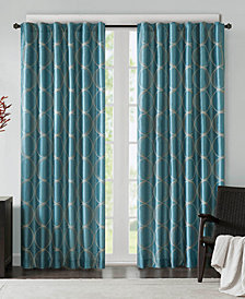 Madison Park Tamia Embroidered Taffeta Window Panels