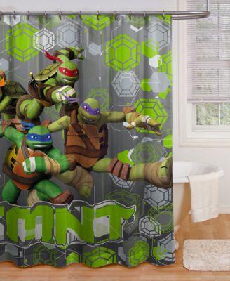 Age Mutant Ninja Turtles Crash Landing Shower Curtain