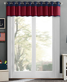 "Mi Zone Liam 50"" x 18"" Colorblocked Room Darkening Valance, Energy-Saving"