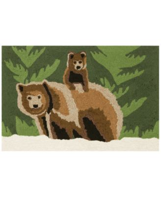 Liora Manne Front Porch Indoor/Outdoor Bear Family Forest 2' x 3' Area Rug
