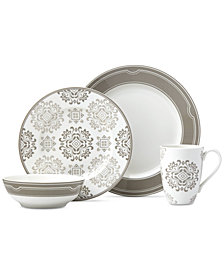 Lenox Neutral Party Medallion 4-Piece Place Setting