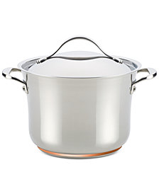 Anolon Nouvelle Copper Stainless Steel 6.5-Qt. Stockpot with Lid