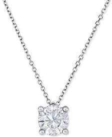 Diamond Pendant Necklace (1 ct. t.w.) in 14k White Gold