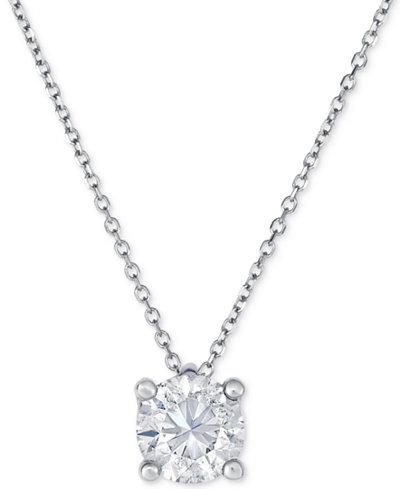 Diamond Pendant Necklace (1 ct. t.w.) in 14k White Gold