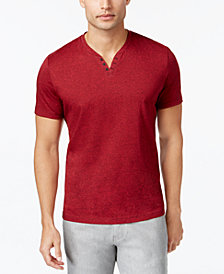 Alfani Men's Stretch Solid Slim-Fit, Henley T-Shirt, Created for Macy's