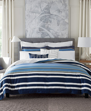 Tommy Hilfiger Robinson Stripe Full Queen Duvet Cover Set   Bedding  Collections   Bed   Bath   Macy s. Tommy Hilfiger Robinson Stripe Full Queen Duvet Cover Set