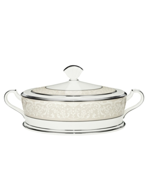 Noritake Silver Palace Covered Vegetable