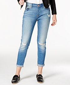 7 For All Mankind Josefina with Destroy Cropped Jeans