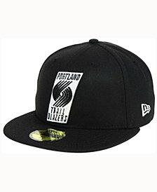 New Era Portland Trail Blazers Black White 59FIFTY Cap