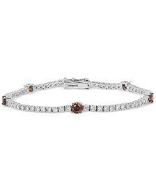 Le Vian Chocolatier® White and Chocolate Diamond Bracelet  (3-5/8 ct. t.w.) in 14k White Gold