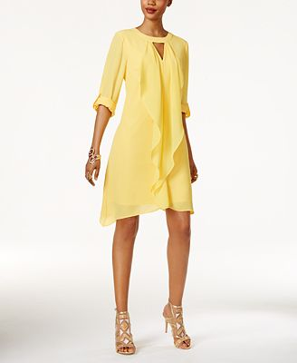 Thalia Sodi Tab-Sleeve Draped Dress, Only at Macy's