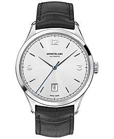 Montblanc Men's Swiss Automatic Heritage Chronometrie Black Leather Strap Watch 40mm 112533