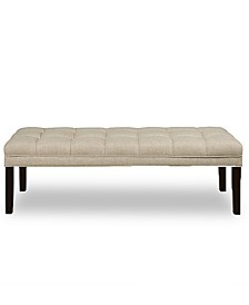 Brecken Upholstered Panel Tufted Bed Bench, Quick Ship
