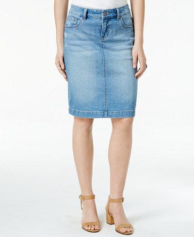Style & Co Denim Skirt, Only at Macy's - Skirts - Women - Macy's