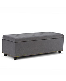 Hayes Fabric Storage Ottoman, Quick Ship