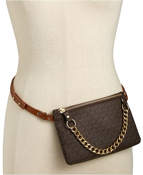 6c09bf381c80 Michael Kors Signature Leather Fanny Pack & Reviews - Handbags ...