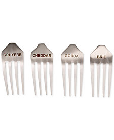 CLOSEOUT! Thirstystone Stainless Steel 4 Piece Fork Cheese Markers