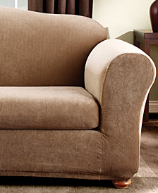 Sure Fit Stretch Stripe 2-Piece Sofa Slipcover
