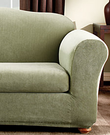 Sure Fit Stretch Stripe 2-Piece Loveseat Slipcover