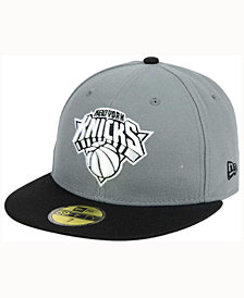 New Era New York Knicks 2-Tone Gray Black 59FIFTY Cap