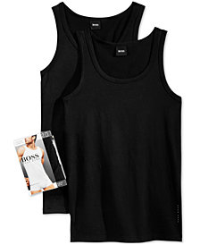 BOSS Men's 2 Pack Tank Top Undershirts