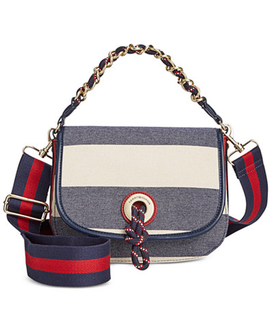 Tommy Hilfiger Belen Woven Rugby Flap Small Crossbody