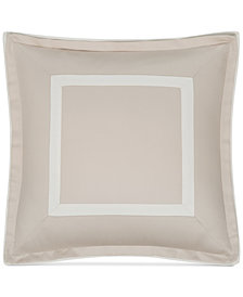 "CLOSEOUT! Hotel Collection  Contrast Flange 18"" Square Decorative Pillow, Created for Macy's"