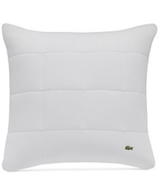 "Quilted Piqué White 20"" Square Decorative Pillow"