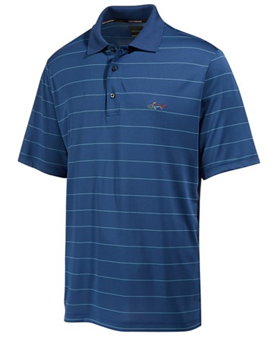 Greg Norman for Tasso Elba Men's 5-Iron Classic Striped Performance Polo, Created for Macy's